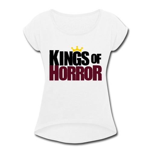 Kings of Horror Logo - Women's Roll Cuff T-Shirt