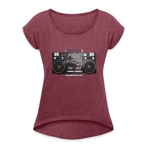 Helix HX 4700 Boombox Magazine T-Shirt - Women's Roll Cuff T-Shirt