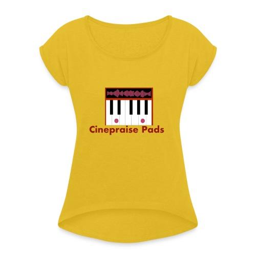 Cinepraise Pads Orange Black - Women's Roll Cuff T-Shirt