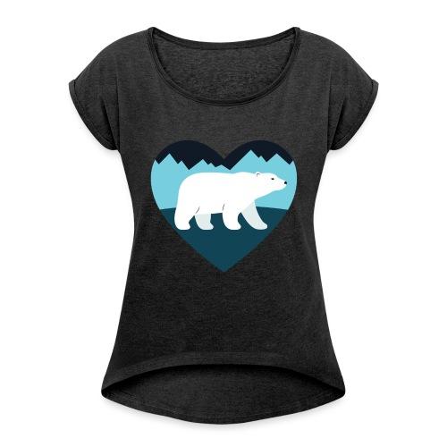 Polar Bear Love - Women's Roll Cuff T-Shirt