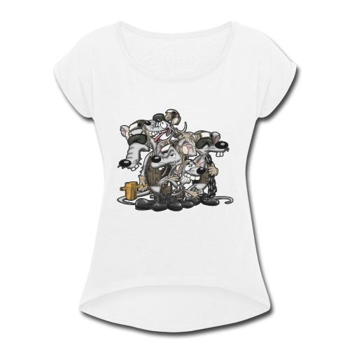 Line Rats - Women's Roll Cuff T-Shirt