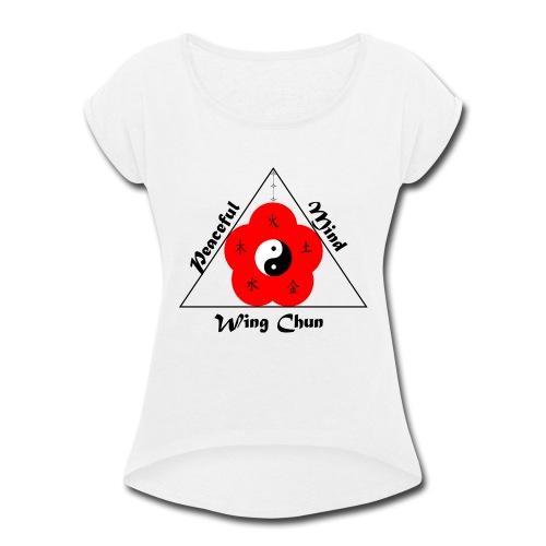Peaceful Mind Vector - Women's Roll Cuff T-Shirt