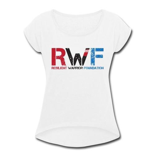 RWF Black - Women's Roll Cuff T-Shirt
