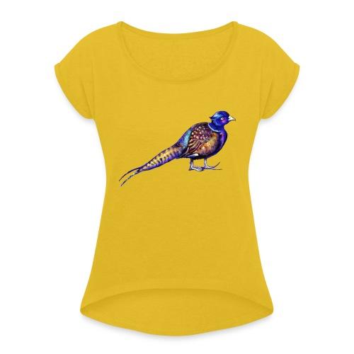 Pheasant - Women's Roll Cuff T-Shirt