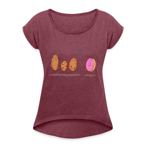 cookies - Women's Roll Cuff T-Shirt