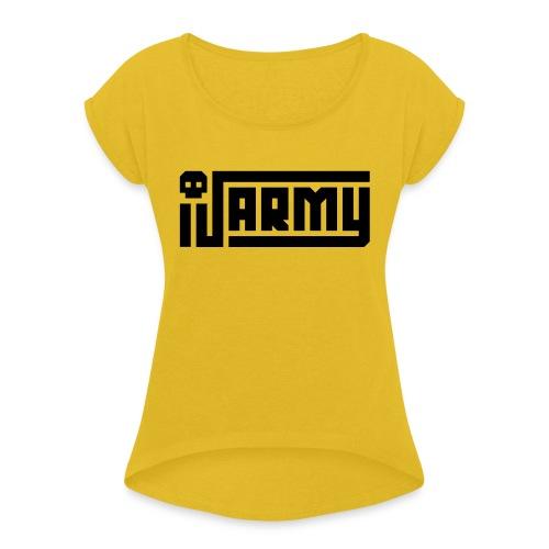 iJustine - iJ Army Logo - Women's Roll Cuff T-Shirt