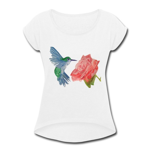 Hummingbird - Women's Roll Cuff T-Shirt
