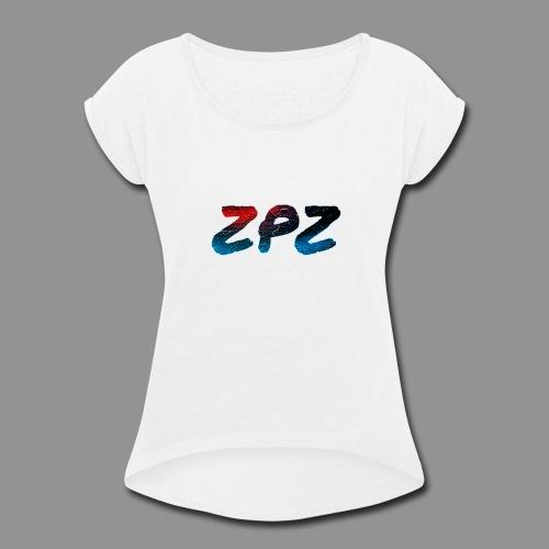 ZPZ GALEXY LOGO - Women's Roll Cuff T-Shirt