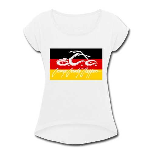 OCC German Flag - Women's Roll Cuff T-Shirt