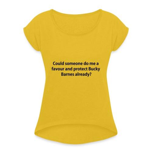Protect Bucky iPhone 5s Case - Women's Roll Cuff T-Shirt