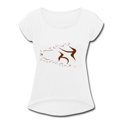 Yer_kalappai - Women's Roll Cuff T-Shirt