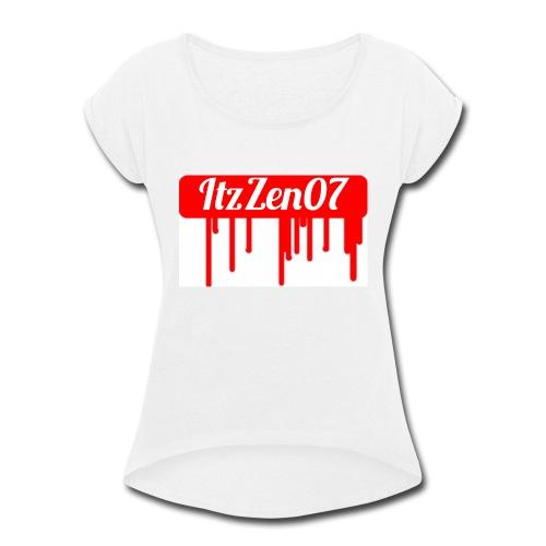 LIMITED TIME ItzZen07 Dripping Blood Halloween - Women's Roll Cuff T-Shirt