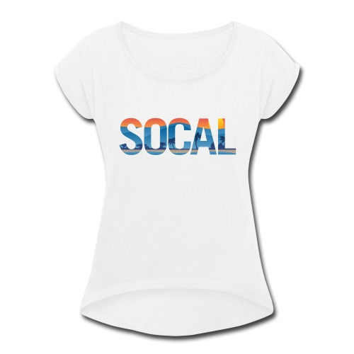 SOCAL Southern California Pride Illustration - Women's Roll Cuff T-Shirt