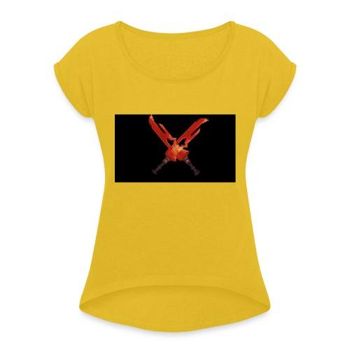 Hipixel Warlords Cross-Swords - Women's Roll Cuff T-Shirt
