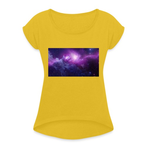 space - Women's Roll Cuff T-Shirt