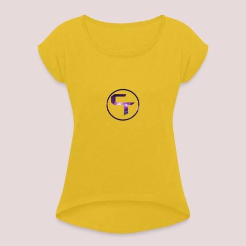 CamTremblay Official Logo - Women's Roll Cuff T-Shirt