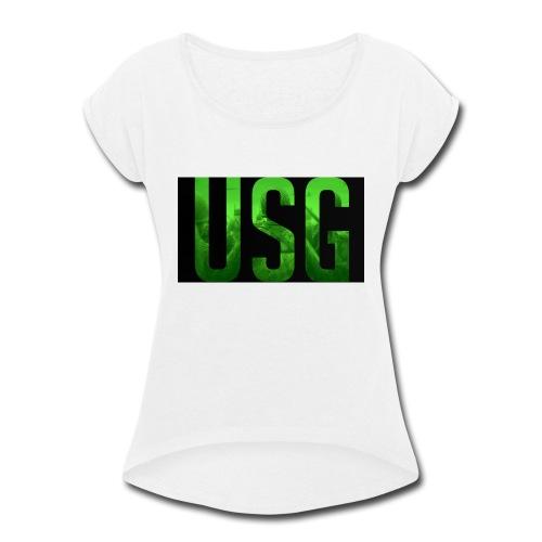 Call of duty World war 2 USG logo - Women's Roll Cuff T-Shirt