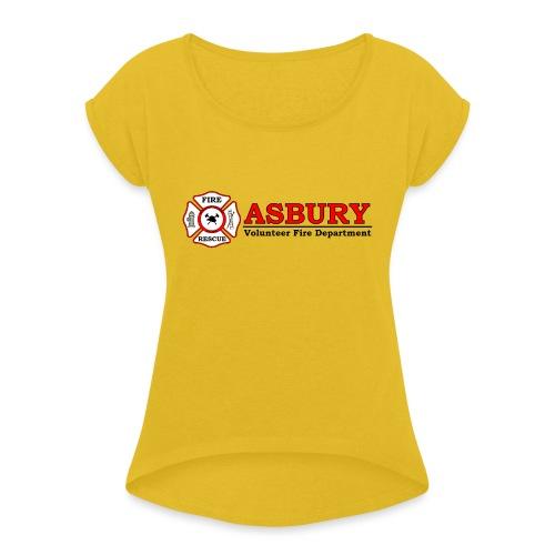 AsburyVFD Logo - Women's Roll Cuff T-Shirt