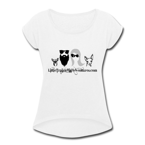 LTBA Heads Logo - Women's Roll Cuff T-Shirt