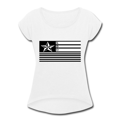 KDO Official Flag T-Shirts - Women's Roll Cuff T-Shirt