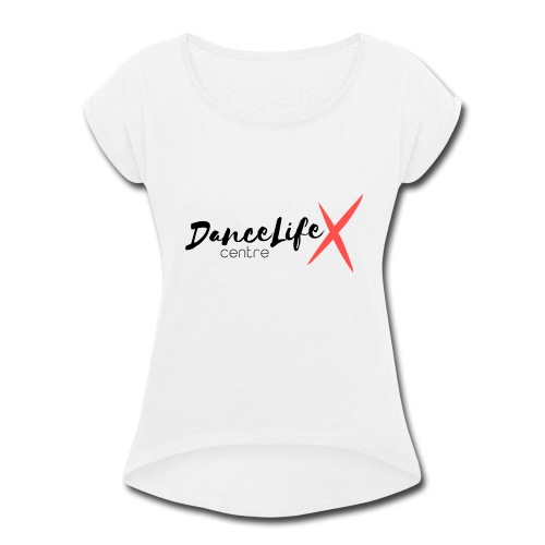 DL-Logo-Master - Women's Roll Cuff T-Shirt