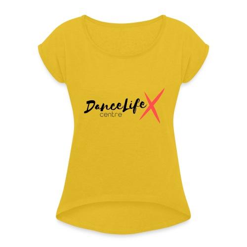 DL-Logo-Master - Women's Roll Cuff T-Shirt