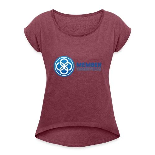 IICT Member Logo - Women's Roll Cuff T-Shirt