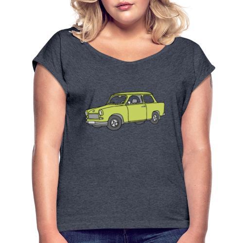 Trabant (baligreen car) - Women's Roll Cuff T-Shirt