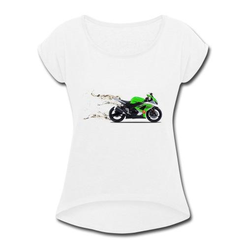 john motorbike - Women's Roll Cuff T-Shirt