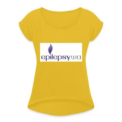 Epilepsy WA - Women's Roll Cuff T-Shirt