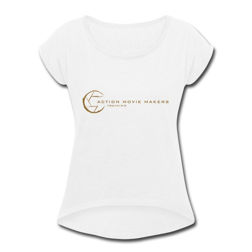 AMMT Logo Modern Look - Women's Roll Cuff T-Shirt