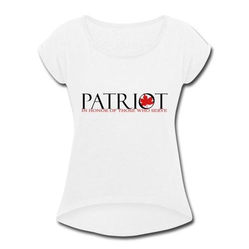 CDN PATRIOT_LOGO_1 - Women's Roll Cuff T-Shirt