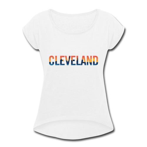 Cleveland Ohio Pride Illustration - Women's Roll Cuff T-Shirt