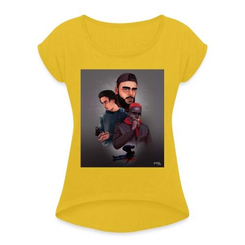 Pnl naha baby onizuka - Women's Roll Cuff T-Shirt