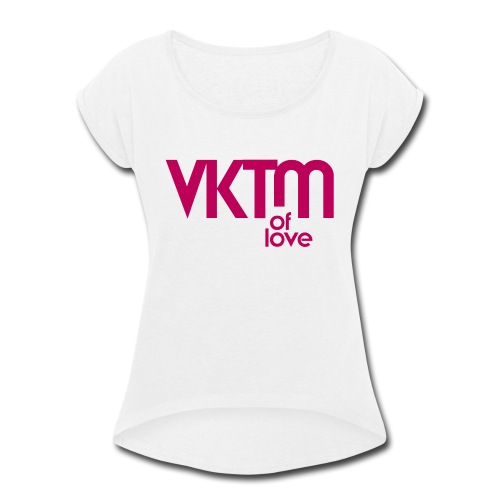 victim of love - Women's Roll Cuff T-Shirt