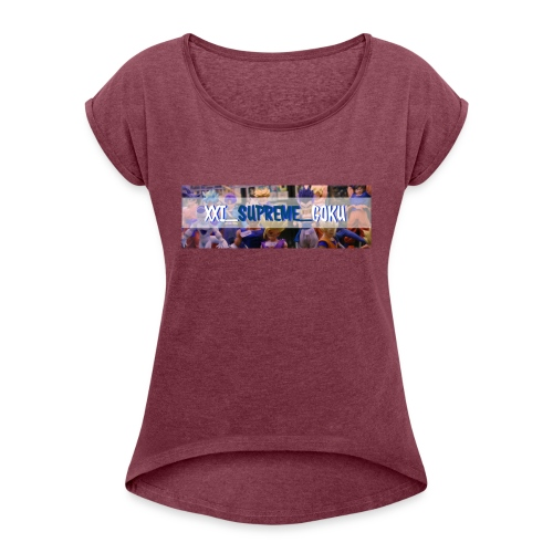 XXI SUPREME GOKU LOGO 2 - Women's Roll Cuff T-Shirt