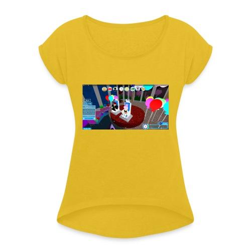 prom queen - Women's Roll Cuff T-Shirt
