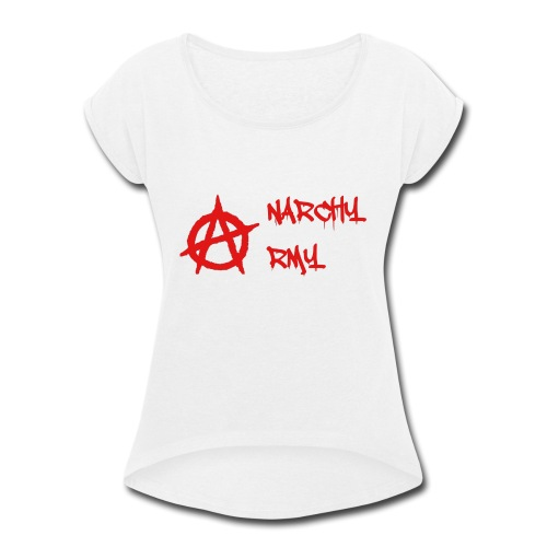 Anarchy Army LOGO - Women's Roll Cuff T-Shirt