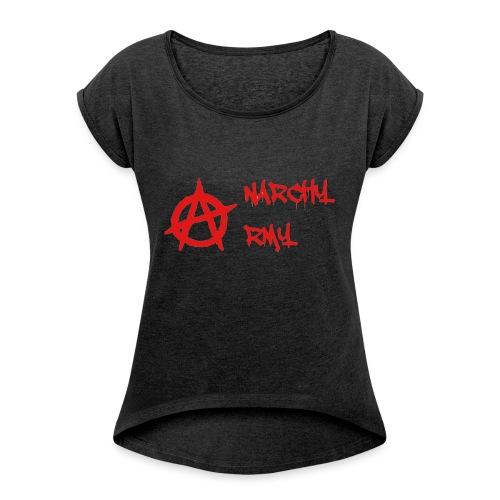 Anarchy Army LOGO - Women's Roll Cuff T-Shirt