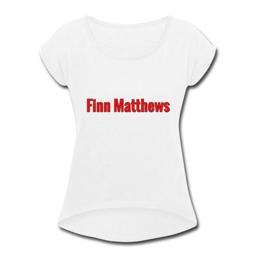 FM Logo - Women's Roll Cuff T-Shirt