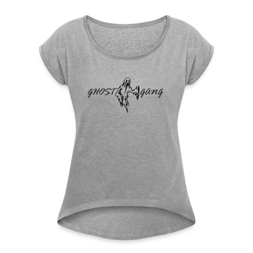 GhostGang Logo - Women's Roll Cuff T-Shirt