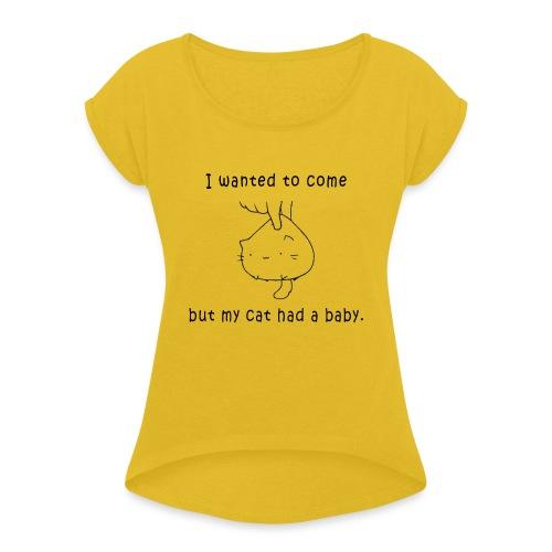 CATHY TEE - Women's Roll Cuff T-Shirt