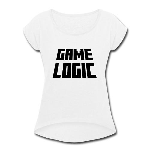 Game Logic Logo - Women's Roll Cuff T-Shirt