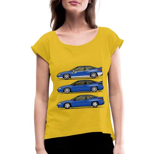 Subie Alcyone SVX Laguna Blue Pearl Trio - Women's Roll Cuff T-Shirt