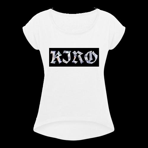 Black KIRO Bills - Women's Roll Cuff T-Shirt