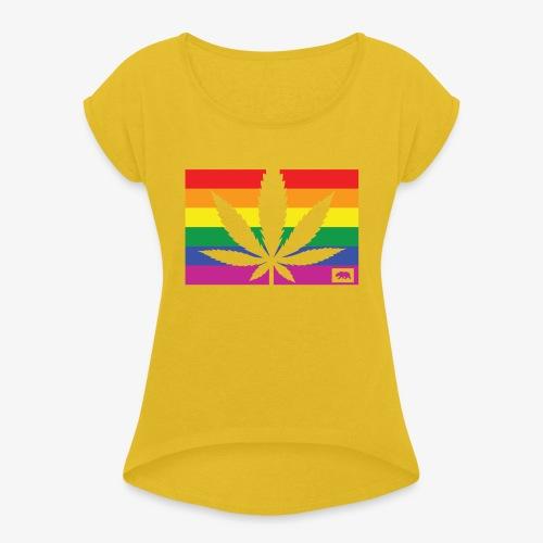 California Pride - Women's Roll Cuff T-Shirt