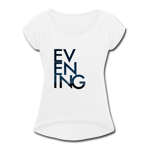 Evening Album Cover - Women's Roll Cuff T-Shirt