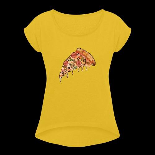 THE Supreme Pizza - Women's Roll Cuff T-Shirt