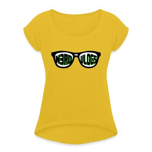 The_Nerd_Vlogs_-_logo - Women's Roll Cuff T-Shirt