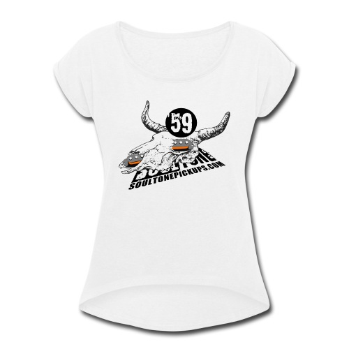 59 Texas Blues - Women's Roll Cuff T-Shirt